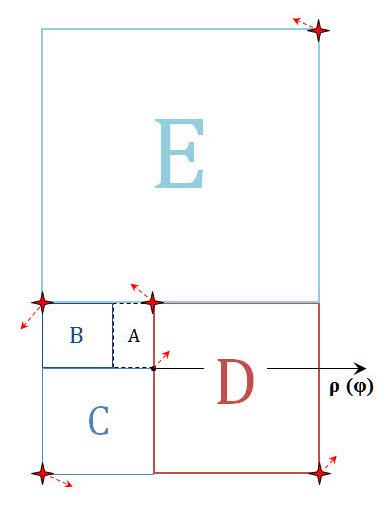 Построение циклоиды Золотого сечения. Шаг 1