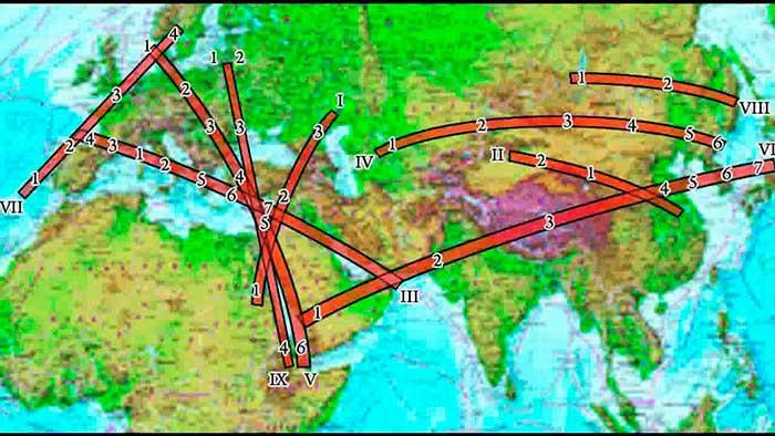 Внешне преобразованная карта легенд пассионарных охлёстов