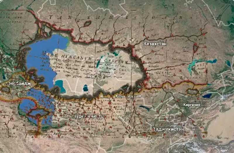Карта Каспия до катаклизма, https://welemudr.mirtesen.ru/blog/43831556934/Katastrofyi-Drevnego-mira.-Kaspiyskoe-more---kak-eto-byilo.-Reko