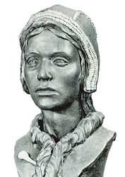 Скульптурная реконструкция по черепу девочки со стоянки Сунгирь; 22 тыс. лет назад