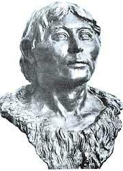 Скульптурная реконструкция выполнена по черепу молодого мужчины из погребения № 19 могильника Сахтыш II; Неолит