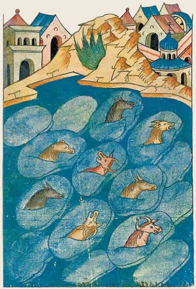 Лицевой летописный свод Ивана IV Грозного. Замёрзли моря