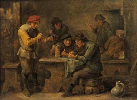 Давид Младший Тенирс. Крестьяне, играющие вкости, 1640.  Государственный Эрмитаж,  http://www.hermitagemuseum.org/