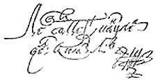 Факсимиле подписи Коронного гетмана Сапеги