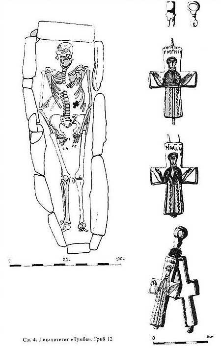 Гордана Филиповска-Лазаровска, захоронение с крестом. Изображение-схема, [20.12]