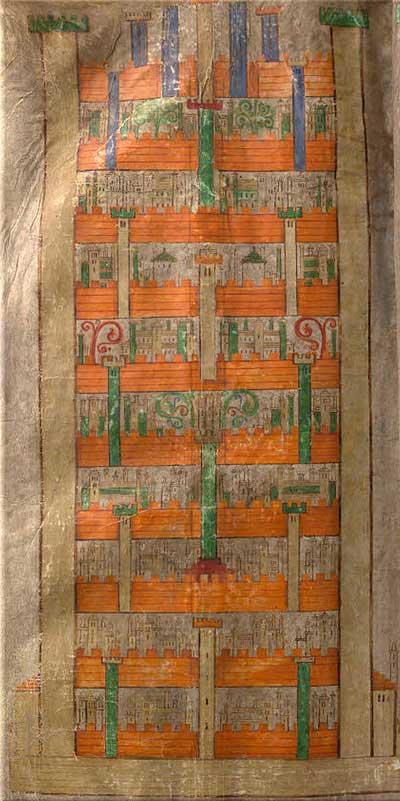 Герман Отшельник, начало XIII. Небесный град из Codex Gigas