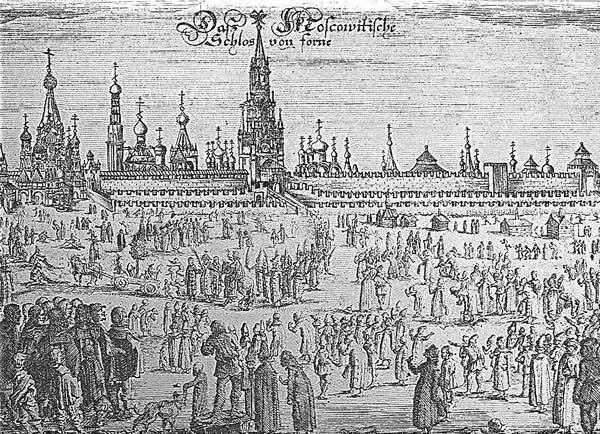 Шествие на осляти в Москве по Олеарию, [17.33] - Вербное воскресение