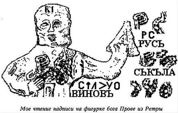 В.А. Чудинов. Германия. Надпись на фигурке божка: расшифровка древнеславянского текста на рунице