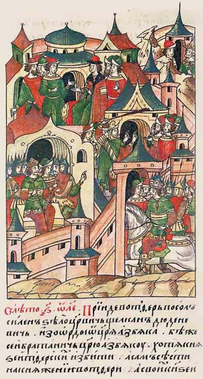 Лицевой летописный свод Ивана IV Грозного. 6835 (1335). Попытка исламизации Твери – эпизод 1