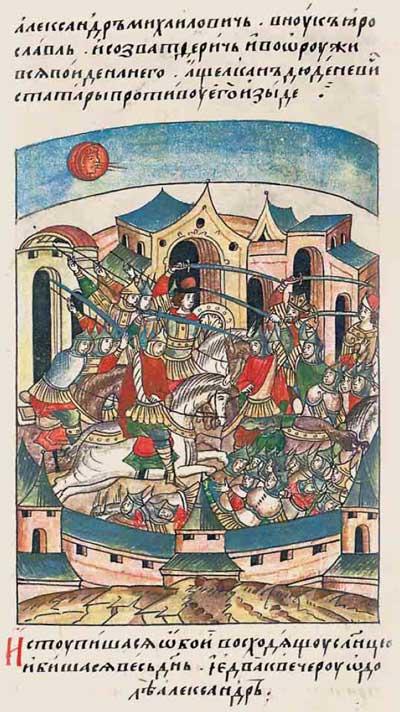 Лицевой летописный свод Ивана IV Грозного. 6835 (1335). Попытка исламизации Твери – эпизод 3