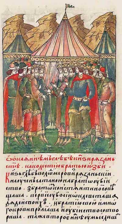 Лицевой летописный свод Ивана IV Грозного. 1224: Братоубийство и дворцовый переворот - 1