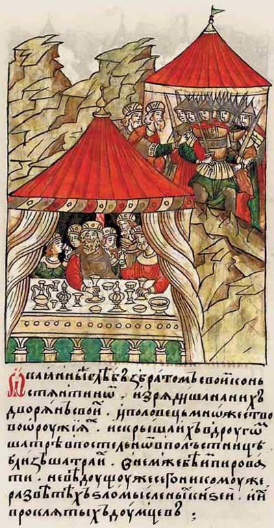 Лицевой летописный свод Ивана IV Грозного. 1224: Братоубийство и дворцовый переворот - 3