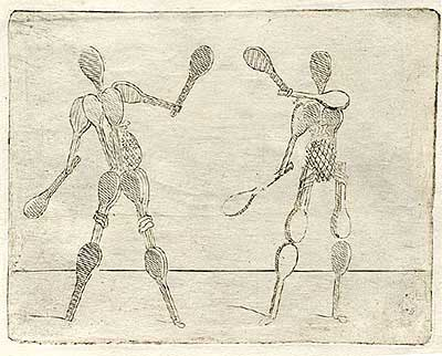 Racquet figures playing with racquets — 40 — Люди-ракетки