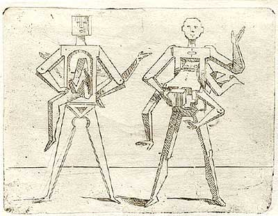 Джованни Брачелли. Hollow figures, each with another passing through torso – 42 – Впрыгнуть в человека, 1624