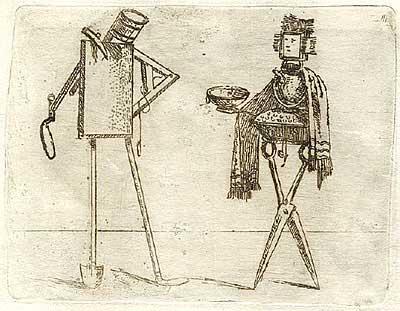 Джованни Брачелли. Pavement layer; needlewoman – 21 – Рукодельница и дорожный рабочий, 1624