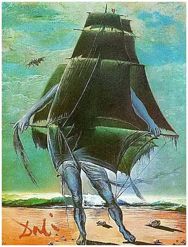 Salvador Dali,  The ship, http://berdnik-stiv.livejournal.com/168315.html
