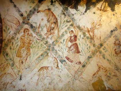 Иордания, Каср Амра-1, 710 год; http://cappadocia-elenatruva.ru/wp-content/uploads/amra_jordan_8.jpg