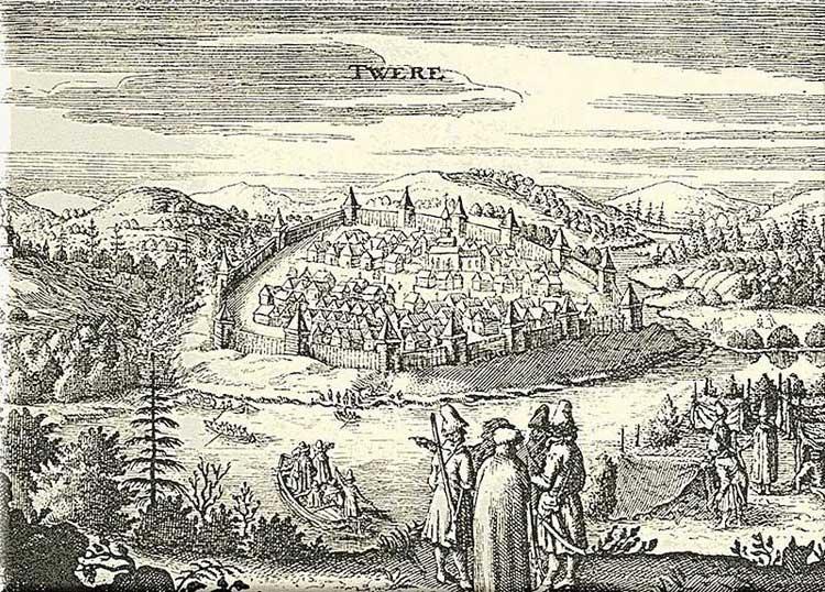 Город Тверь. Альбом Адама Олеария, 1634-1635