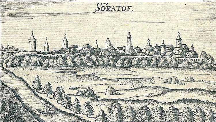 Саратов. Альбом Адама Олеария, 1634-1635