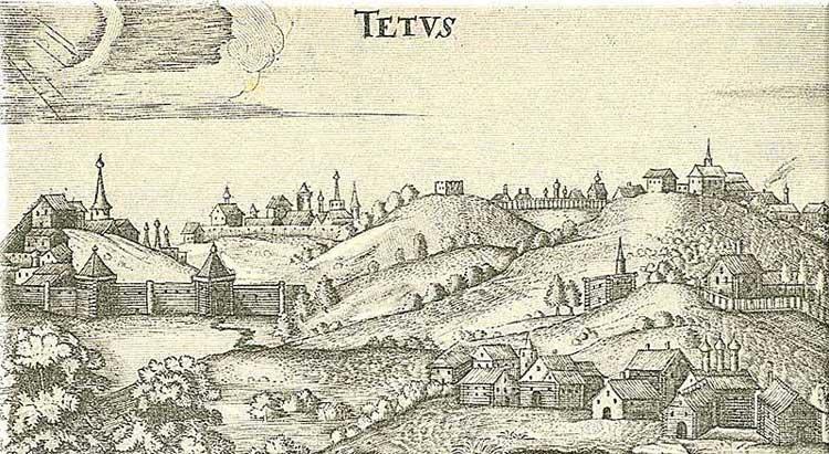 Тетюши. Альбом Адама Олеария, 1634-1635