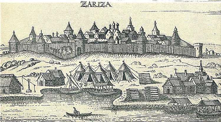 Царицын. Альбом Адама Олеария, 1634-1635