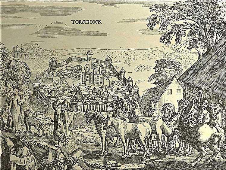 Город Торжок. Альбом Адама Олеария, 1634-1635