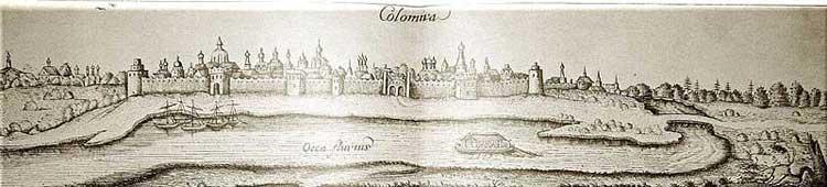 Коломна. Альбом Адама Олеария, 1634-1635