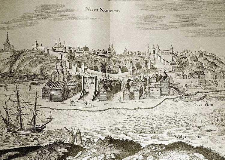 Нижний Новгород. Альбом Адама Олеария, 1634-1635