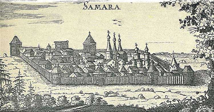 Самара. Альбом Адама Олеария, 1634-1635