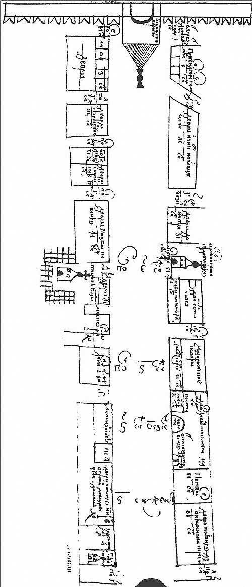 Общий вид Плана XVII века: по Ильинке и Маросейке