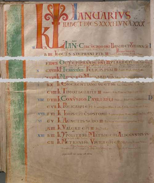 Кодекс Гигас (Codex Gigas). Римский счёт в XIII