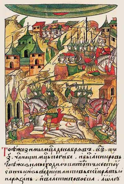 Лицевой летописный свод Ивана IV Грозного. 6904 (1404): Лунное затмение – Кровавая луна