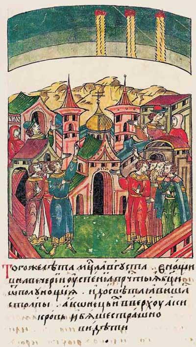 Лицевой летописный свод Ивана IV Грозного. 6909 (1409). Кровавые слолбы