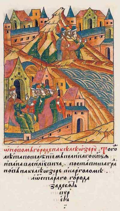 Лицевой летописный свод Ивана IV Грозного. XV век: строительный бум – фрагм. 8