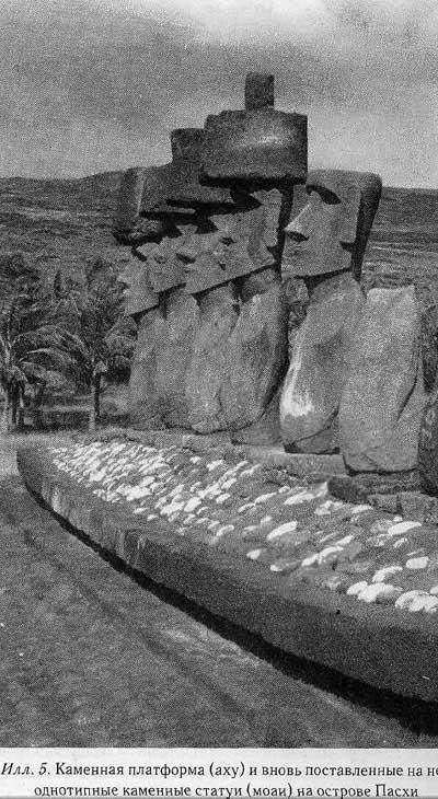 Джаред Даймонд.  Остров Пасхи. Каменные платформы (аху)