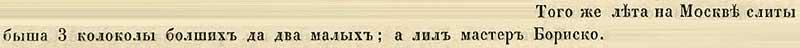 Воскресенская летопись, 1346. Отливка колоколов русским мастером