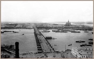 Плашкоутный мост через Оку,  http://www.nizhnyfoto.ru/foto/raritet/d7.php