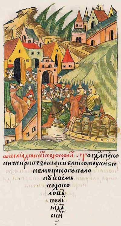Лицевой летописный свод Ивана IV Грозного. 6989–6996 (1489–1496). Русь. Состояние машиностроеня: литьё колоколов