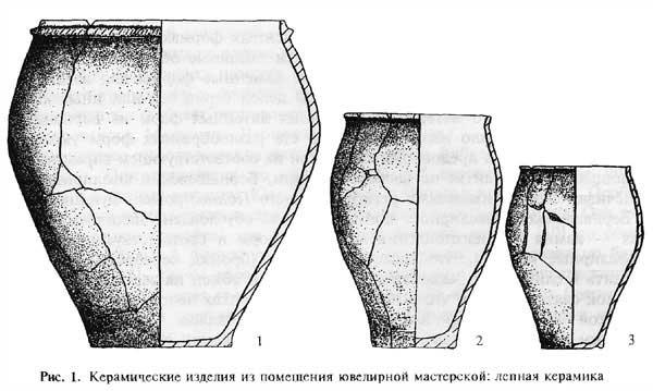 И.С. Винокур. Керамические изделия из ювелирной мастерской