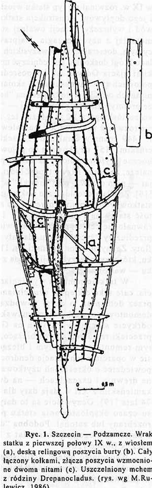 Владислав Филипoвяк. Обломки судна, устье Одра, первая половина IX века