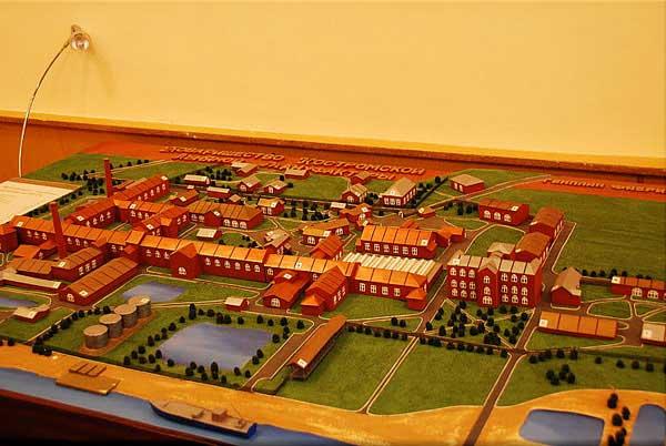 Большая Костромская льняная мануфактура, Генплан на 1866 год – на год её основания.