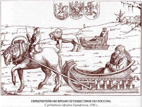 Герберштейн в России. Передвижение