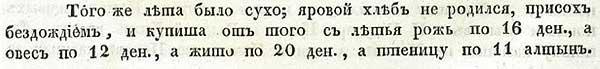 Псковская летопись, 1560. Цены