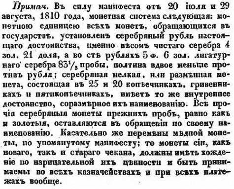 Деньги Российской Империи, 1832 гг., ч.5 // Е. Зябловский, Российская статистика, 1832 [19.40]