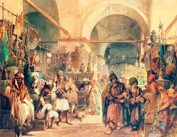 Амедео Презироси (†1882). Маклеры на восточном базаре