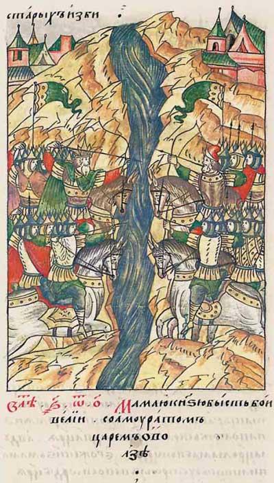 Лицевой летописный свод Ивана IV Грозного. 6801 (1301). Грызня за власть в Булгарской Орде – 1