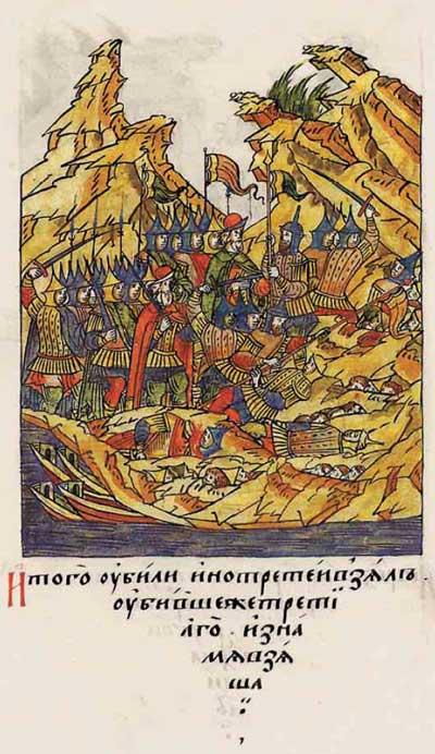 Лицевой летописный свод Ивана IV Грозного. Русь, XV век. Пассионарное напряжение этнической Системы. Акматическая фаза: «Не по-вашему, а по-моему!» «Мы хотим быть великими!», фрагм. 10