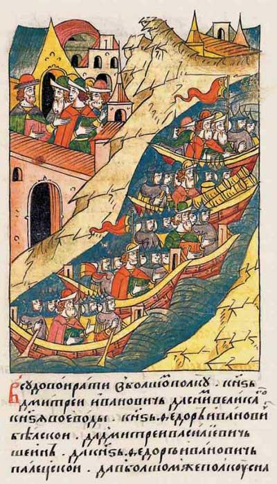 Лицевой летописный свод Ивана IV Грозного. 7014 (1514): Пассионарное напряжение суперэтноса. Фаза надлома. Фрагм. 2