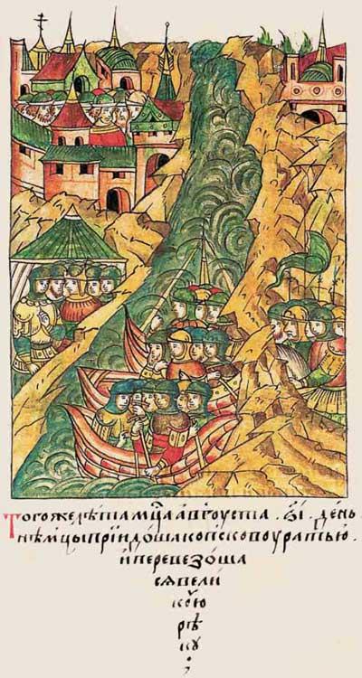 Лицевой летописный свод Ивана IV Грозного. 6912: Поход немце на Псков