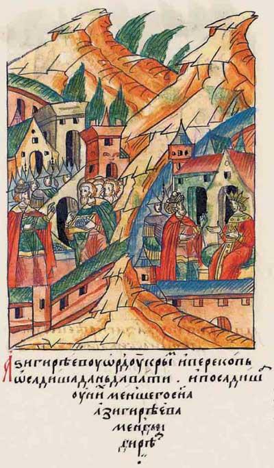 Лицевой летописный свод Ивана IV Грозного. 6983 (1483). Взятие Кафы и Крыма